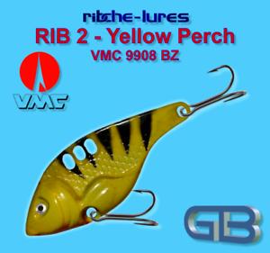VMC 9908 BZ 8g 20g RIB 2 Yellow Perch Cicaden arte esca ribche Lures