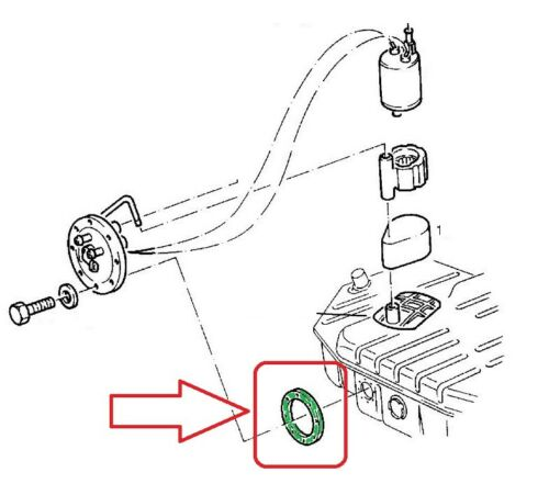 Original Opel junta gasolina bomba combustible bomba Opel Astra F