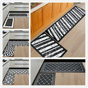 Machine Washable Kitchen Mat Hall Door Large Runners Small Non Slip Rug Carpet