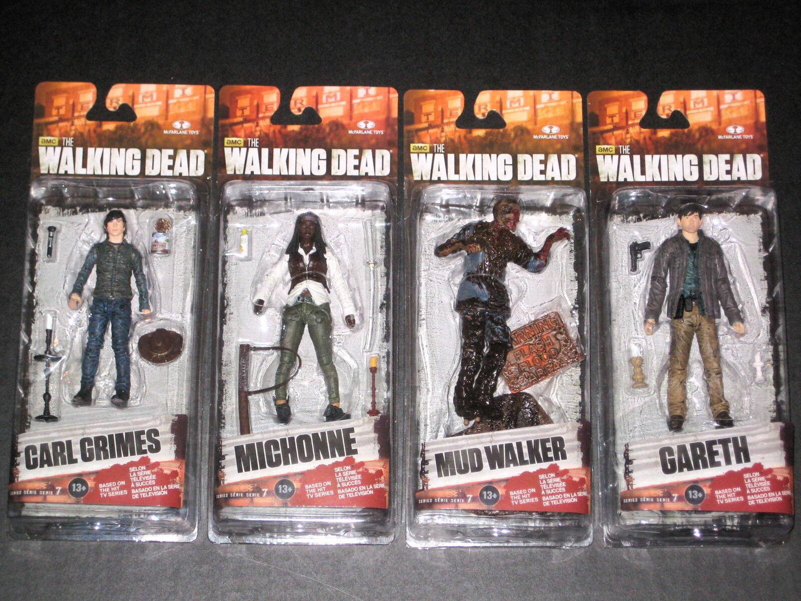 Walking Dead Serie 7 figuras Michonne Cochel Gareth barro Walker MCFARLANE Nuevo Lo último