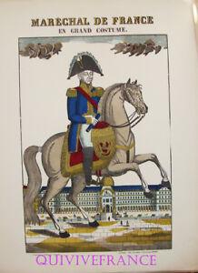 Ep68 - Marechal De France En Grand Costume - Image D'epinal Pellerin - Napoleon