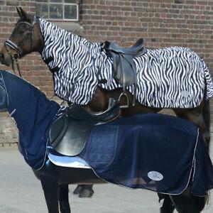 Daselfo-Fliegenausreitdecke-Meran-zebra-oder-blau-mit-Halsteil-soko-reitsport