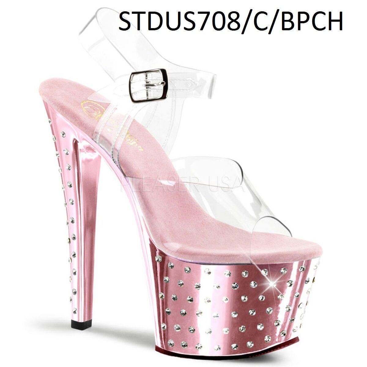 Pleaser STARDUST 600 700 Platform 800 Series Exotic Dancing Platform 700 R/S Studded Sandales 01d1e7