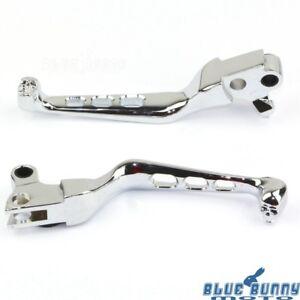 CNC-Aluminum-Skull-Handlebar-Brake-Clutch-Lever-For-Harley-Davidson-XL-883-1200