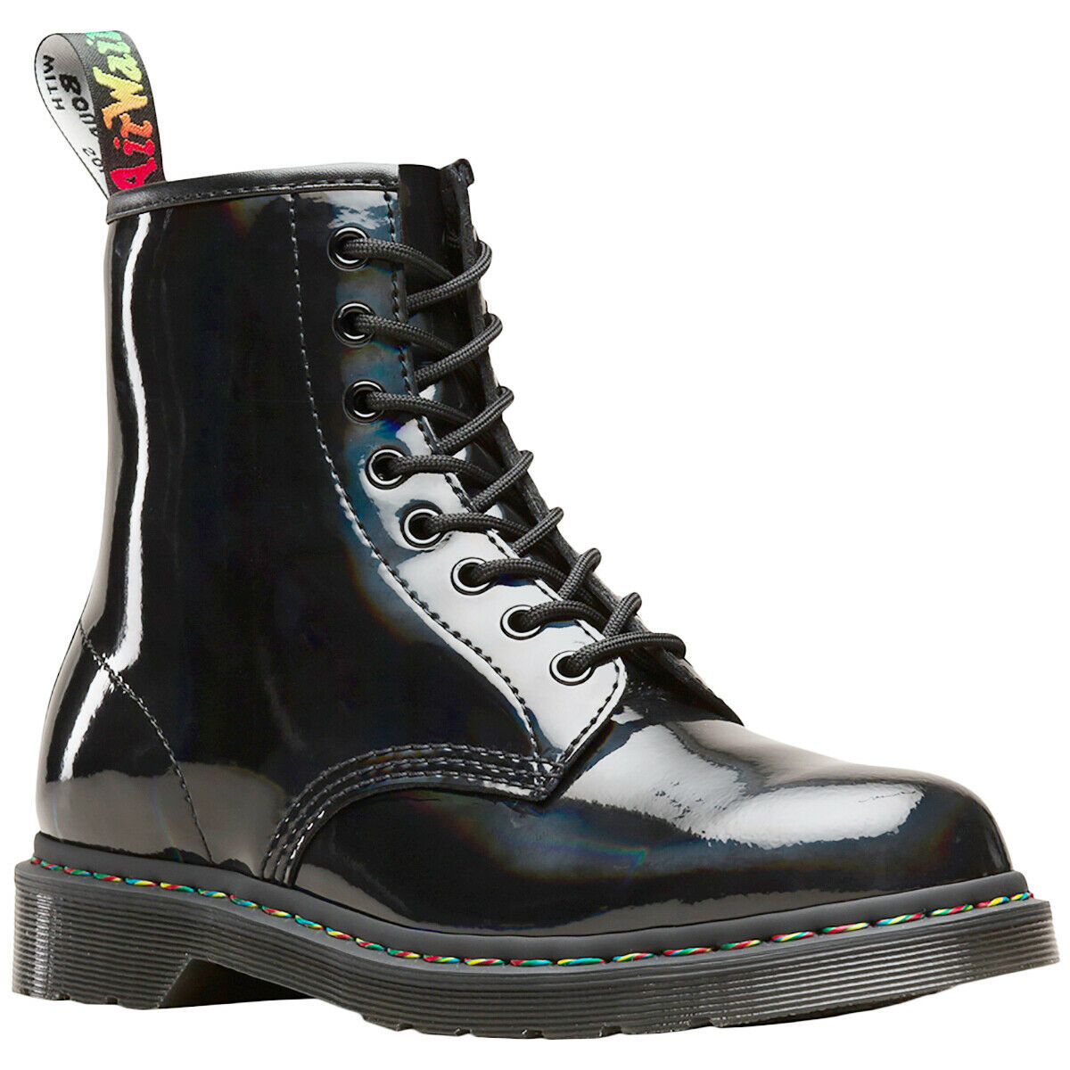 Dr.Martens 1460 Leder Shiny Glossy Casual Ankle Combat Unisex Stiefel