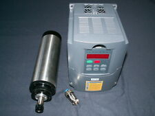 AIR-COOLED 65MM 1.5KW ER11 COLLET SPINDLE MOTOR AND MATCHING INVERTER VFD CNC
