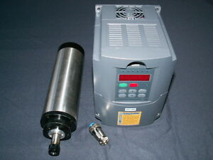 WATER-COOLED-80MM-2-2KW-ER20-COLLET-SPINDLE-MOTOR-AND-MATCHING-INVERTER-VFD-CNC