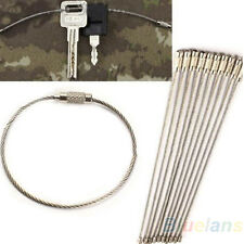 Good 10X Stainless Steel Wire Keychain Cable Key Ring Outdoor Hiking Camping