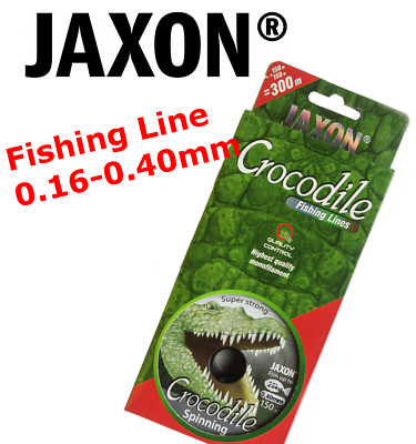 0.16-0.27MM STRONG 2X150M JAXON CROCODILE SPINNING FISHING LINE CONNECTED 300M