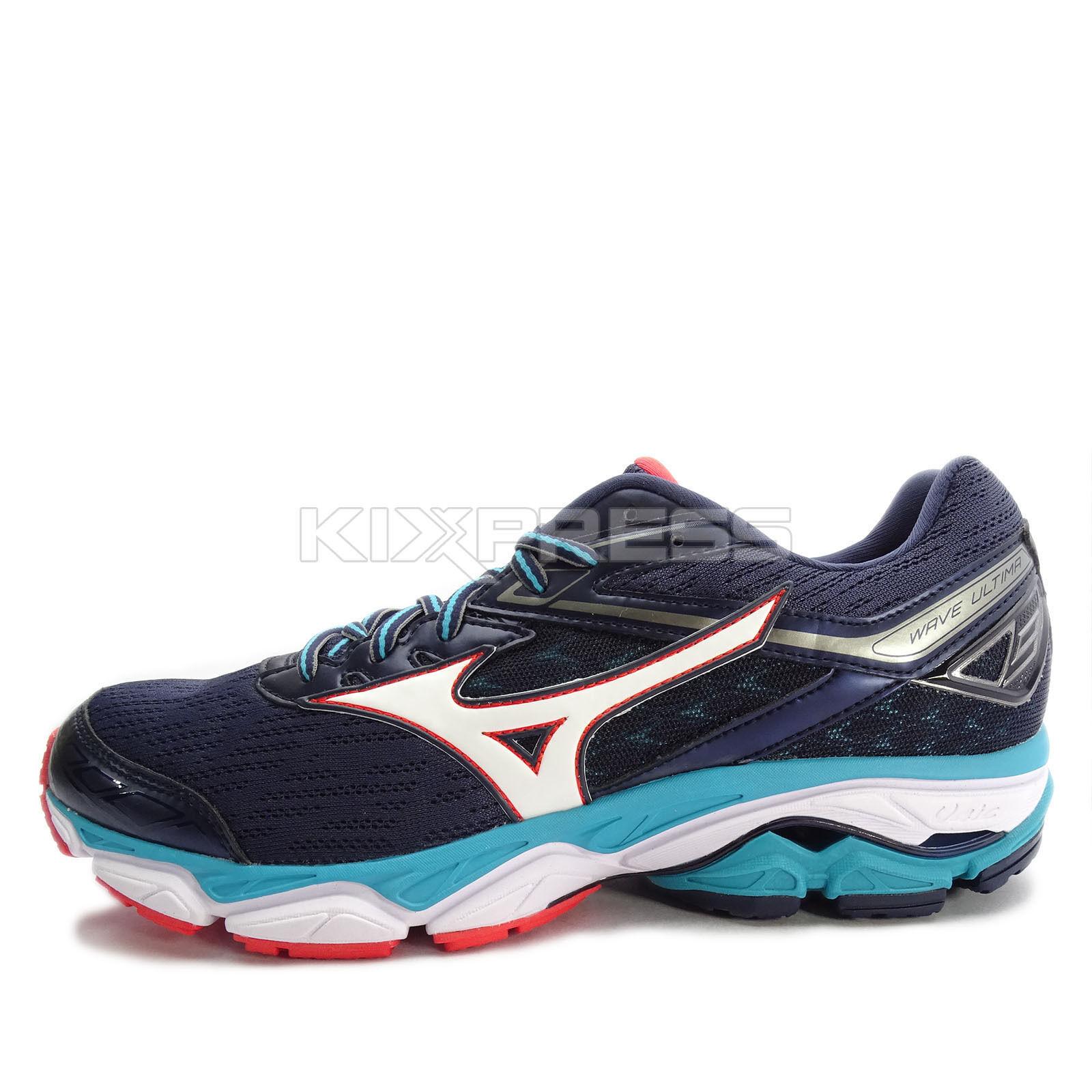 Mizuno Wave Ultima 9 [J1GC170901] Men Running Shoes Navy/White-Turquoise