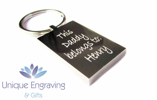 Great Gift Idea! Personalised Photo Engraved Baby 3D//4D Scan Rectangle Keyring
