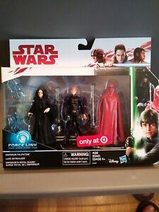 2017 Disney Hasbro SW Force Link Emperor Palpatine Royal Guard Target Exclusive