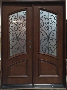 Exceptionnel Image Is Loading Limited Quantity Wood Iron Door Pre Hung Amp