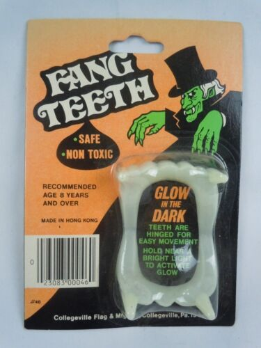 Vintage Collegeville Flag Fang Teeth Glow In The Dark Sealed NOS