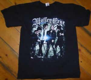 MOTLEY-CRUE-T-Shirt-2013-Band-Photo-PRINT-Size-MEDIUM-Glam-Metal-Rock