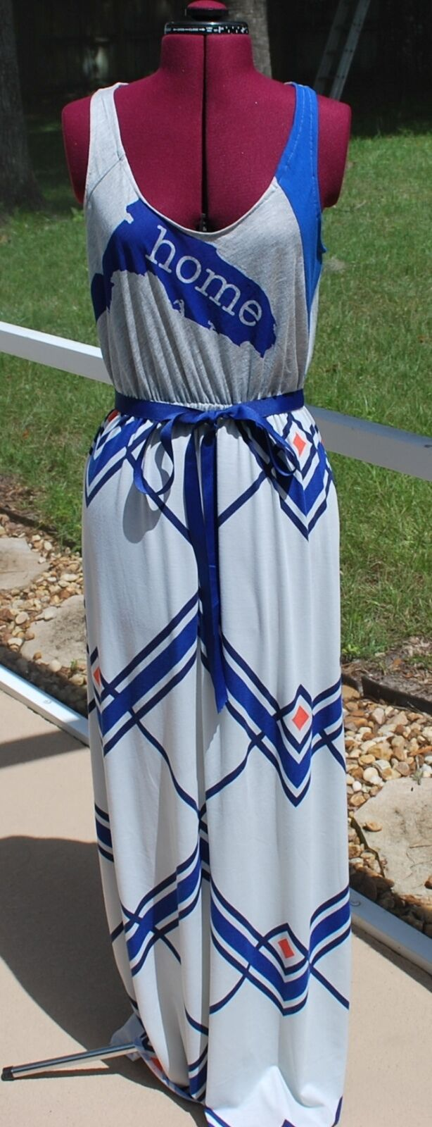Florida Gators Home Chevron Game Day Tank Maxi Dress Upcycled T-Shirts M