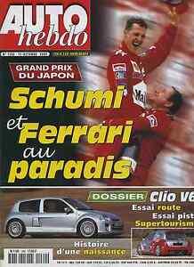 AUTO-HEBDO-n-1260-du-11-Octobre-2000-GP-JAPON-RENAULT-CLIO-V6