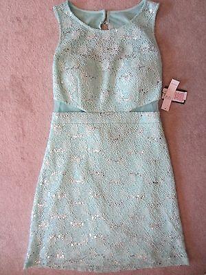 Womens Teeze Me Green Sequined Sleeveless Open Back Dress Size 13/14 Stunning Women's Clothing Activewear Bottoms