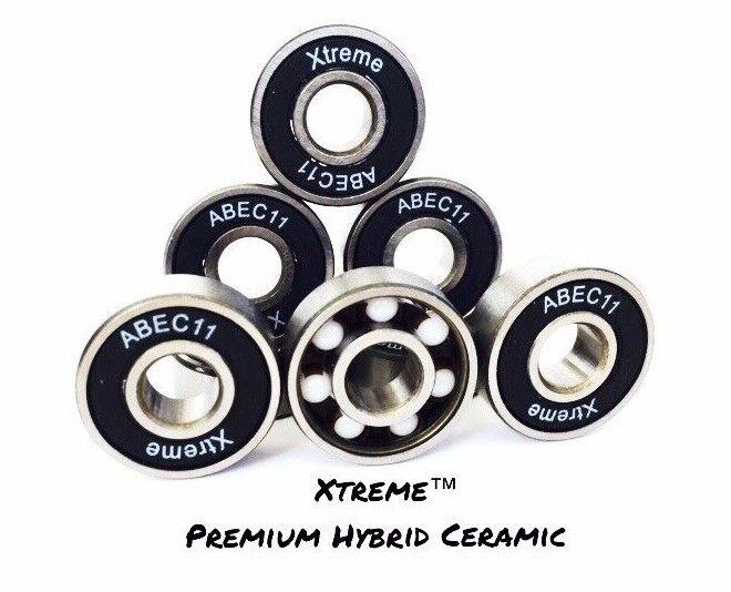 Paquet XTREME De  8 XTREME Paquet ABEC 11 PREMIUM HYBRID CÉRAMIQUE ROULEMENT Zr02 RS 0dc6aa