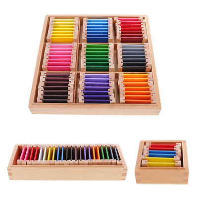 Big Color Box Medium Montessori Wooden Toys Kids Teaching Material Small