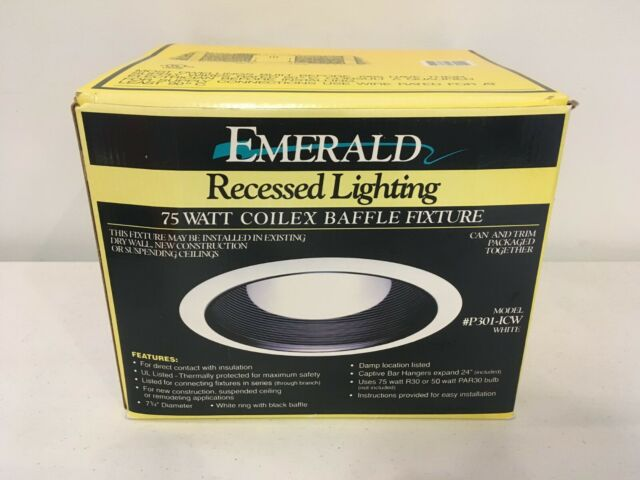 Emerald Recessed Lighting 75 Watt 7 1 4 Coilex Baffle Light Fixture P301 Icw