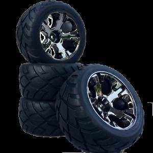 Truggy-Tyre-Wheels-Set-Revil-Street-with-5-Lochfelge-Titanium-1-10-4-Pcs-Partc