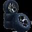 Truggy-Tyre-Wheels-Set-Revil-Street-with-5-Lochfelge-Titanium-1-10-4-Pcs-Partc thumbnail 1