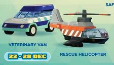 2016 McDonald Malaysia Building -(Set of 2-Veterinary Van & Rescue Helicopter)