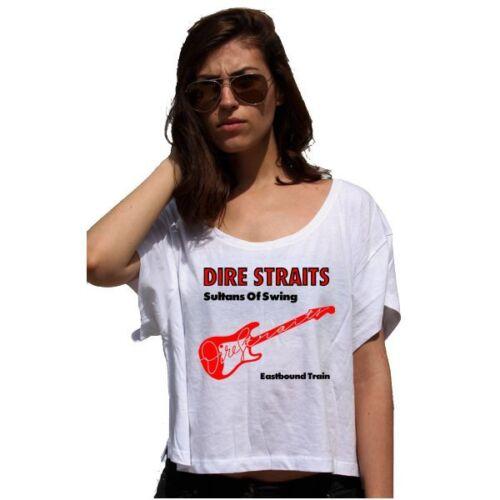 Dire Straits Sultans Of Swing Lady 80/'S Cotton Touch T-shirt Damen Crop Top