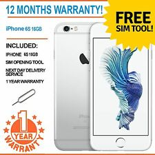 Apple iPhone 6S (Latest Model) 16GB Factory Unlocked - White / Silver