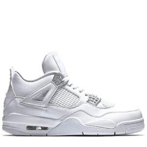 Los Angeles a5d75 71757 Détails sur Homme Nike Jordan 4 Retro Blanc/Argent métallisé 308497 100  Taille: UK 9.5 dernière paire- afficher le titre d'origine