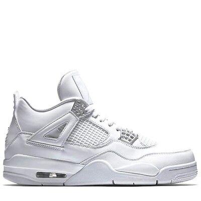 watch 1e653 42936 Mens Nike Jordan 4 Retro White Metallic Silver 308497 100 Size  UK 9.5 Last
