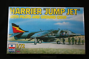 YB027-ESCI-1-72-maquette-avion-9079-Harrier-Jump-Jet-with-pilots-and-ground-crew