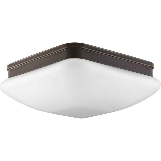 Progress Lighting Appeal Collection 3-Light Antique Bronze Flush Mount w/Square