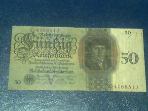 50 Mark Germany 1933 Banknote FINE
