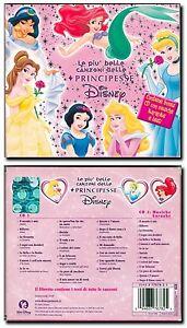 CD-Musicale-Le-piu-Belle-Canzoni-delle-PRINCIPESSE-Disney-RARO-con-KARAOKE-2CD