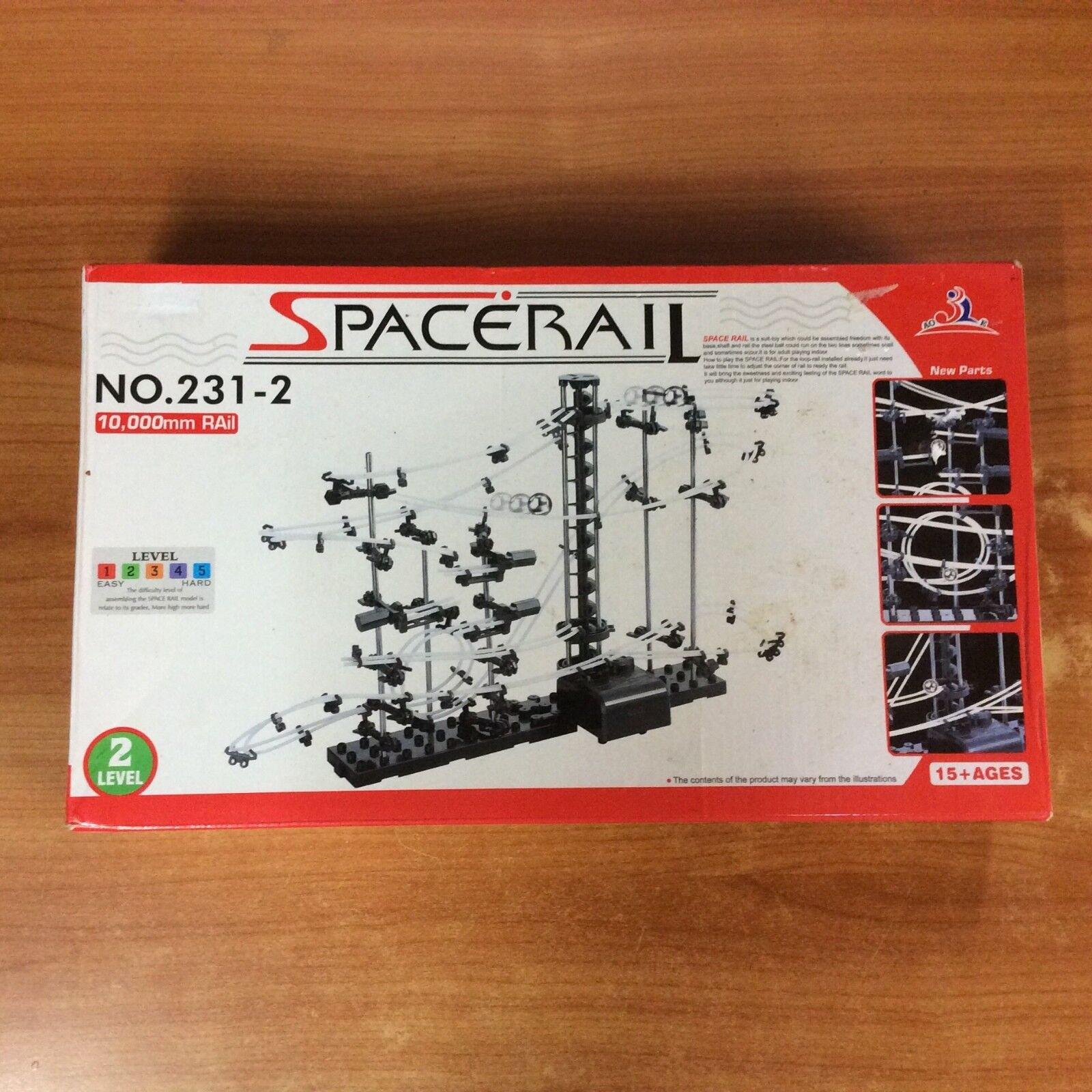 2-Level Space Rail Spiral Lift Roller Coaster Electric Assemble Model