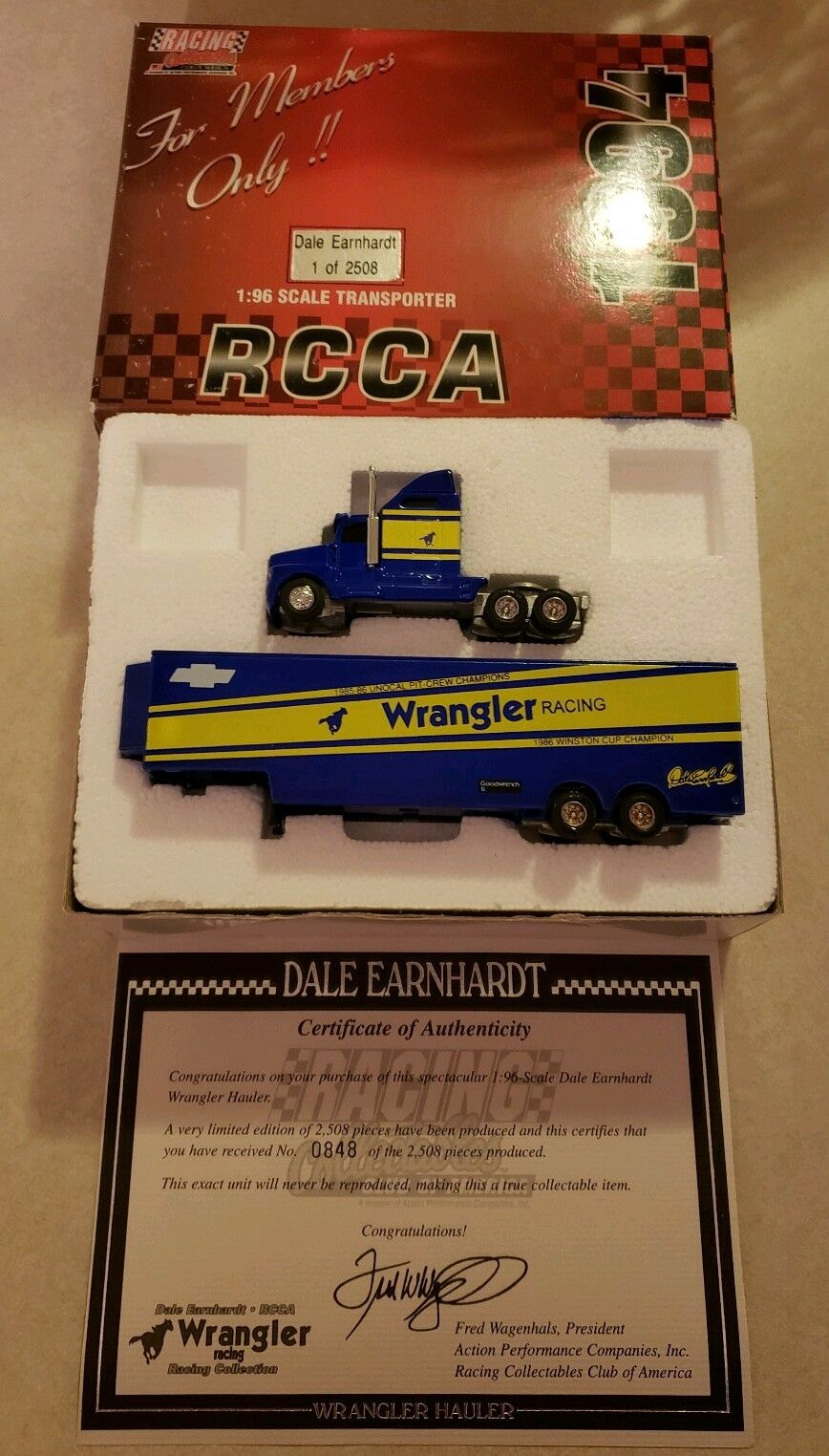 Racing Collectables 1994 Dale Earnhardt Wrangler Hauler 848 de 2509