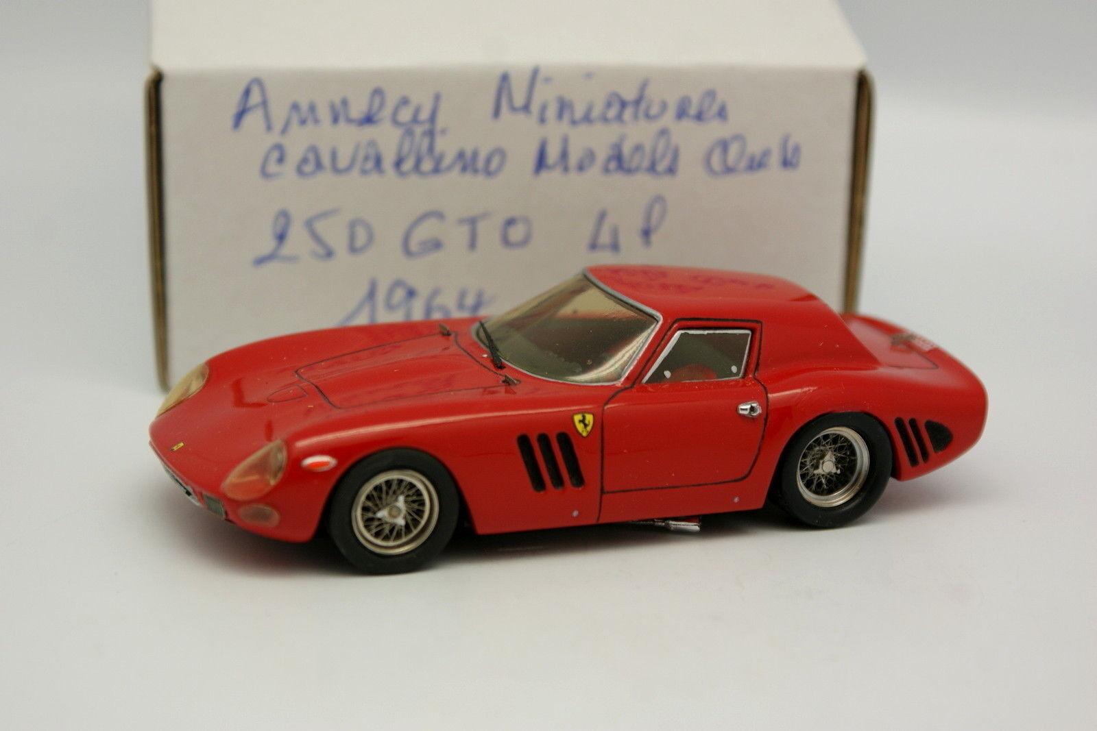 Annecy Miniatures Cavallino Models Kit Monté 1 43 - Ferrari 250 GTO 1964 Rouge
