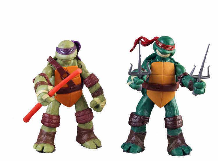 12CM Teenage Mutant Ninja Turtles 4x Action Figures Set Leo Ralph Donnie Mickey