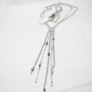RV-65-WHBM-signed-jewelry-silver-plated-multi-fringe-tassel-cut-crystal-necklace