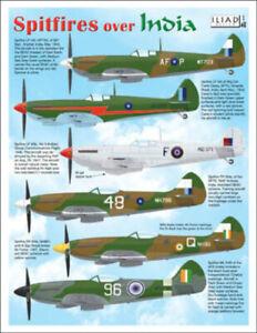 Spitfires Over India: Mk VIII, XIV, XVIII (1/48 decals, Iliad 48028)