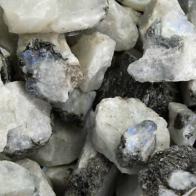 STOCK PHOTO 1lb OF NATURAL ROUGH WHITE MOONSTONE CRYSTAL STONE MINERALS INDIA