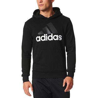 adidas Essentials Linear Pullover Hoodie Mens Hoodies