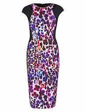 M&S PER UNA Speziale Animal Print Bodycon Dress Size UK20/EUR48 BNWT