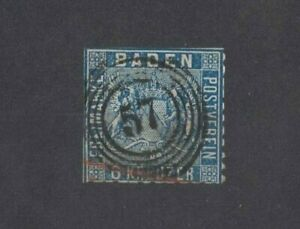 1860-Germany-Baden-SG-22-Good-Used