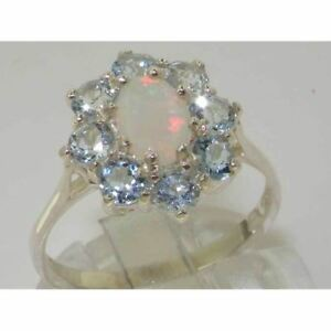 SOLID-STERLING-SILVER-FULL-UK-HALLMARK-QUALITY-NATURAL-OPAL-amp-AQUAMARINE-RING