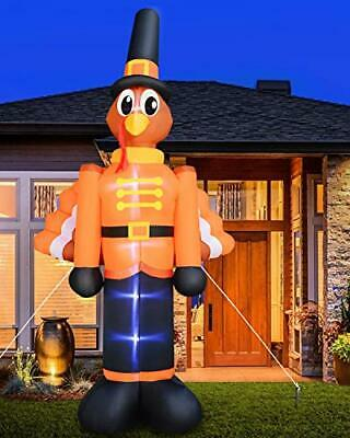 Turkey Thanksgiving Led Inflatables Outdoor Decorations Clearance 12 Ft For Yard Ebay