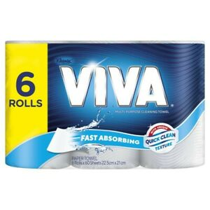 Viva White Paper Towel 6 pack