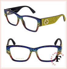 a9a5d7b3191 GUCCI 0104 Yellow Rainbow Glitter RX Eyeglasses Optical Frame GG0104O  Authentic